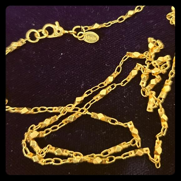 Vintage Monet Long Gold Chain